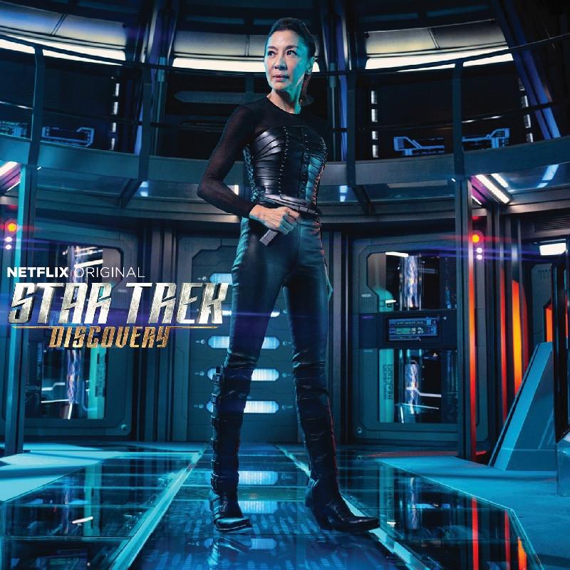 Michelle Yeoh wears Una Burke Leather, Star Trek Discovery