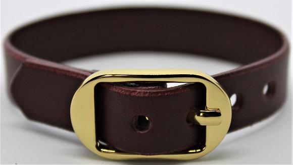 Buckle Bracelet - Merlot Cowhide