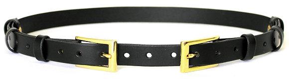 50% Off - Leather Loop Belt - Black