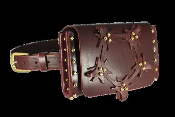 Star Lace Belt & Across-Body Bag - Merlot