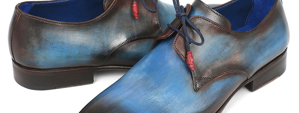 Paul Parkman Men's Blue & Brown  Derby Shoes