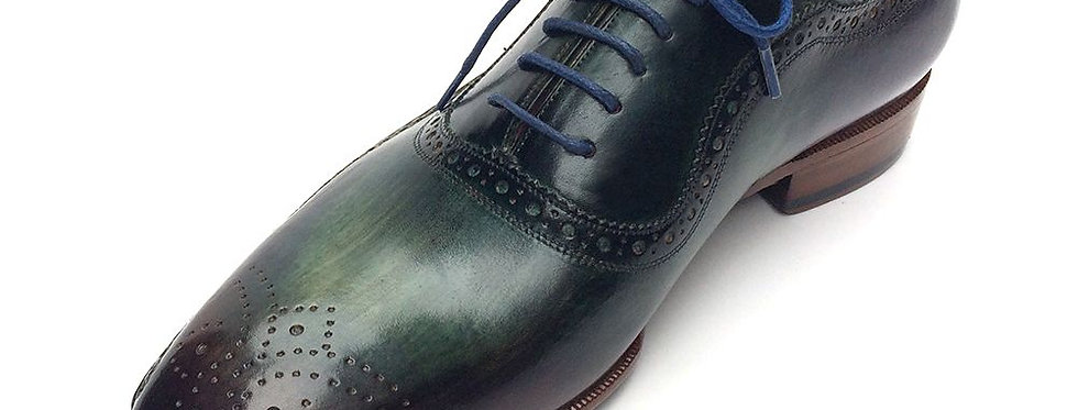 Paul Parkman Green & Purple Handmade Oxfords