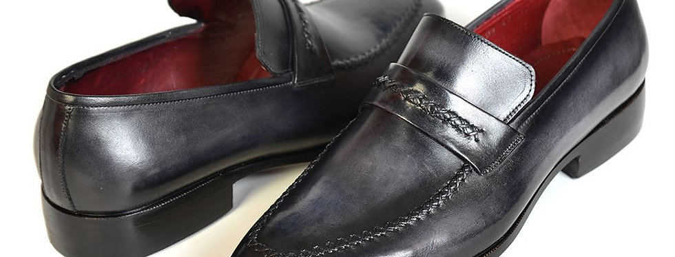 Paul Parkman Gray & Black Men's Loafers for Men