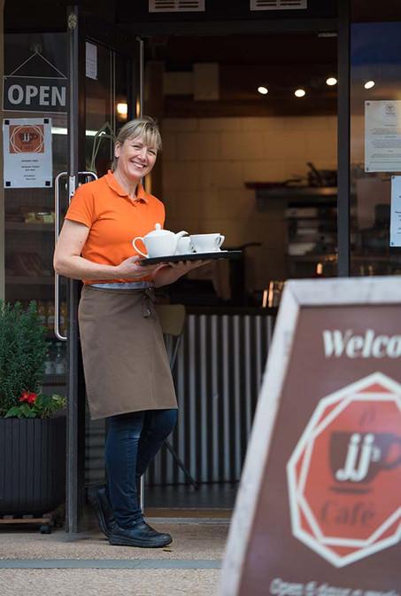 Jenny owner of JJ's Cafe, Redditch