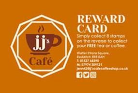 JJ's Cafe Reward Card, Redditch