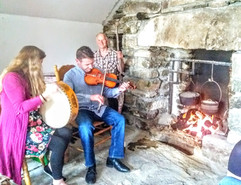 Music by the fireside in Ireland West Farm Stay
