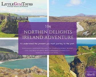 Private group tour Ireland 3 day tour