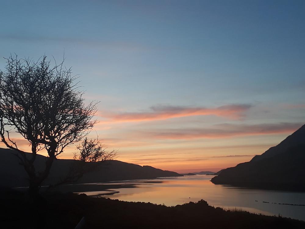 Enjoying sunsets on a custom tour of Ireland.