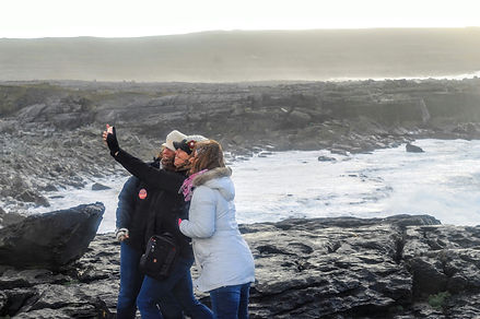 Guests enjoying the Wild Atlantic Way on a Private Tour
