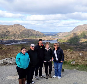 The Flanagan Family on a private tour of Ireland