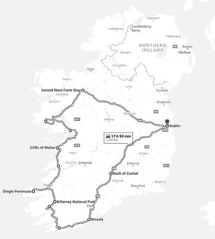 8 Day Private Tour of Ireland Itinerary