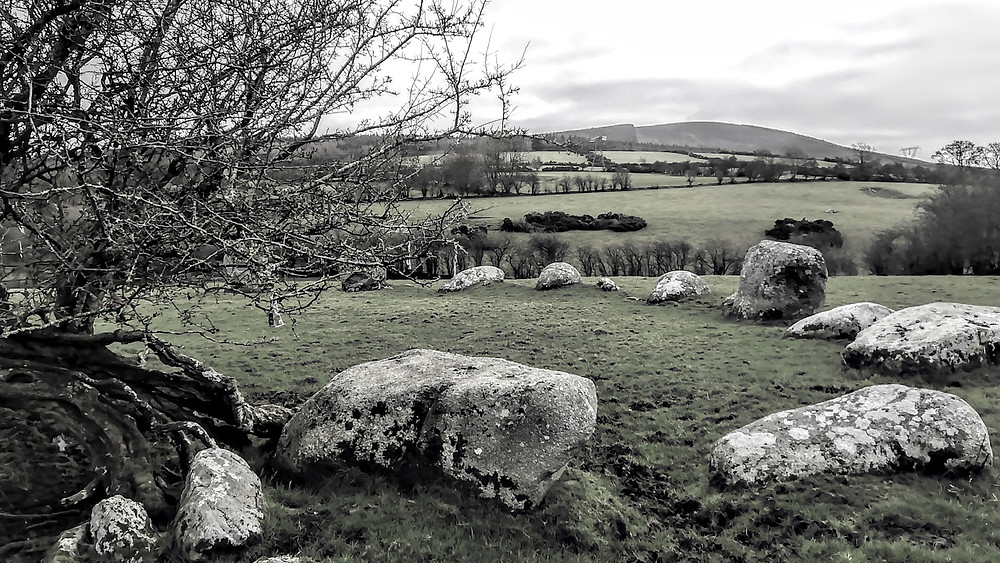 Stone Circle in County Wicklow, Ireland