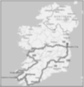 7 Day Tour of Ireland Map