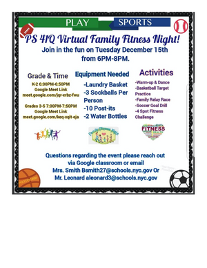 Virtual Family Fitness Night - 12/15