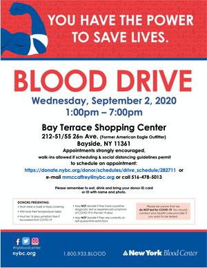Community Blood Drive - 9/2 & 9/3
