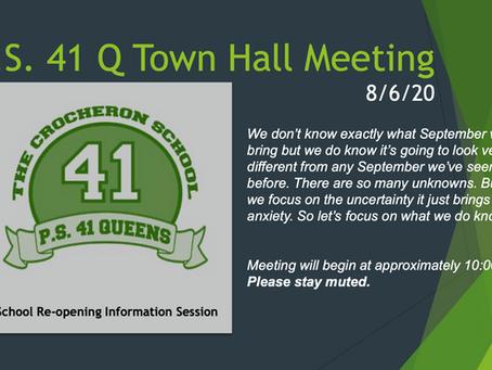 Aug 6 Town Hall Meeting Slides