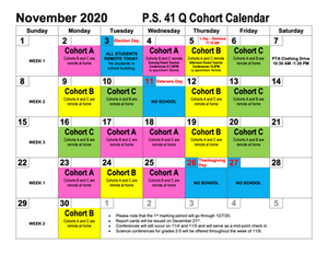 November Cohort Calendar - UPDATED