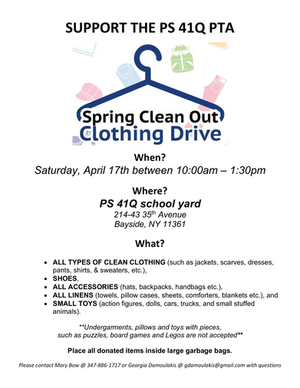 Spring 2021 Clothing Drive