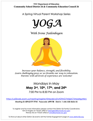 D26: Spring Yoga - Mondays in May