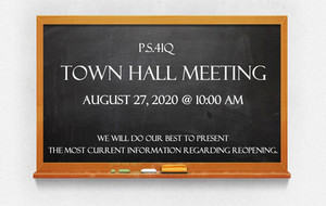 REMINDER: Town Hall Meeting - Thu, Aug 27 @ 10am