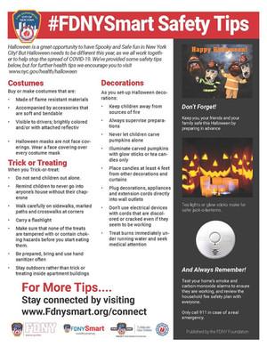 #FDNYSmart Safety Tips For Halloween