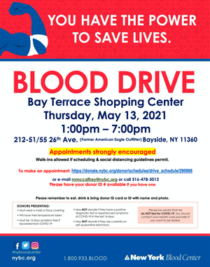 Bayside Blood Drive - 5/13