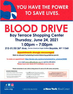 BLOOD DRIVE - 6/24/21