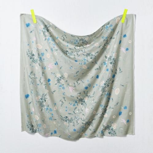 Nani Iro Japanese Fabric - Kokka - Jardin I C Double Gauze - half yard fabric