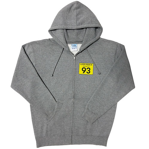 Super Premium Zip Hoodie (Heather Gray)