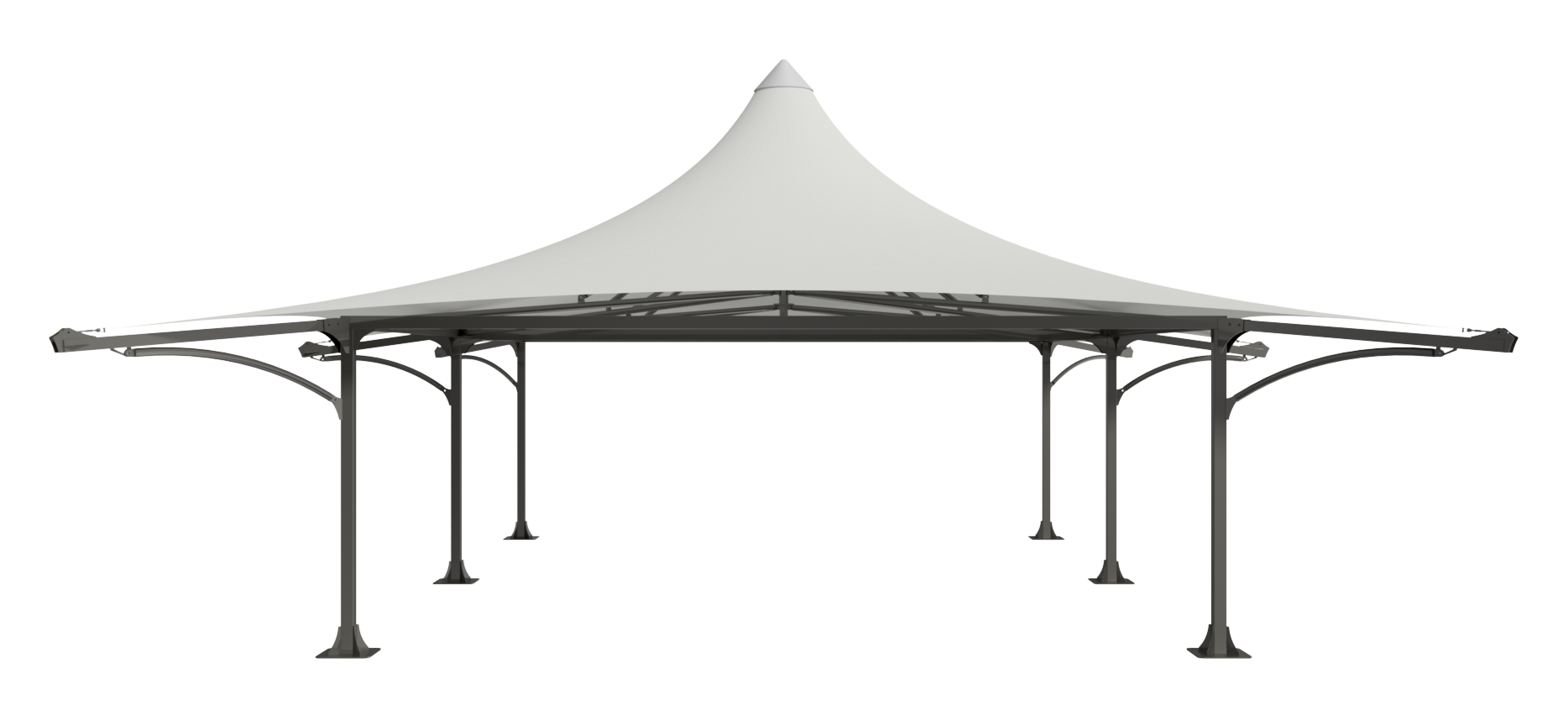 Dual Peak Bar Structure - Side