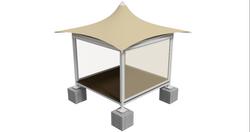 Hemp Massage Booth - ISO Perspective