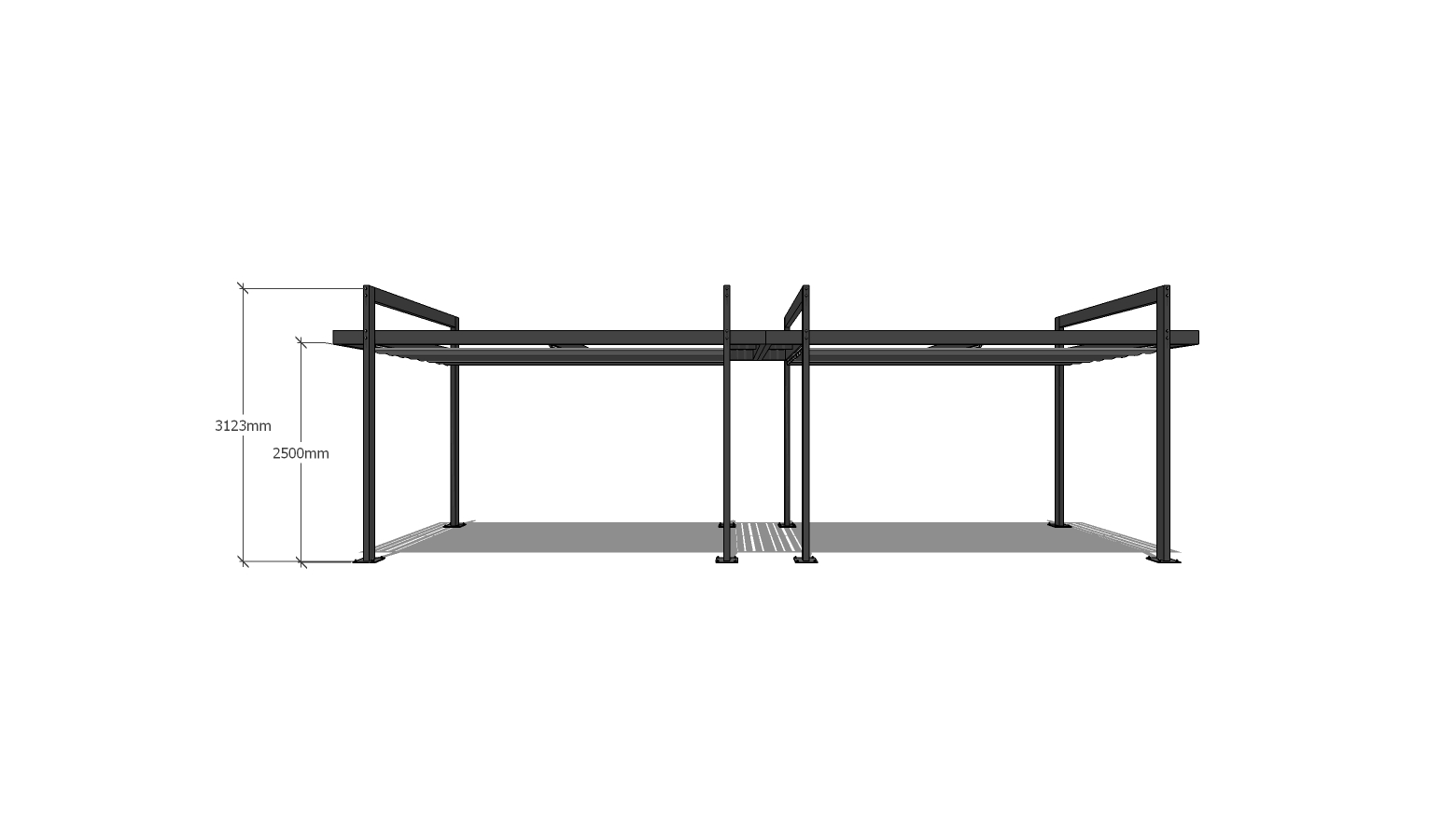 Retractable Pergola 5x10msv