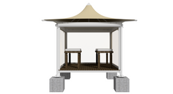 Hemp Massage Booth - Front Perspective w