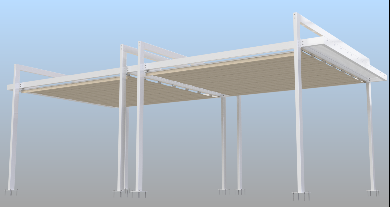 Dual Retractable Pergola