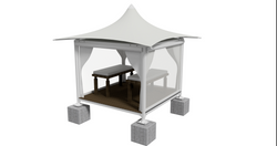Massage Booth - ISO White