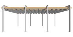 Retractable Pergola - Side Elevation