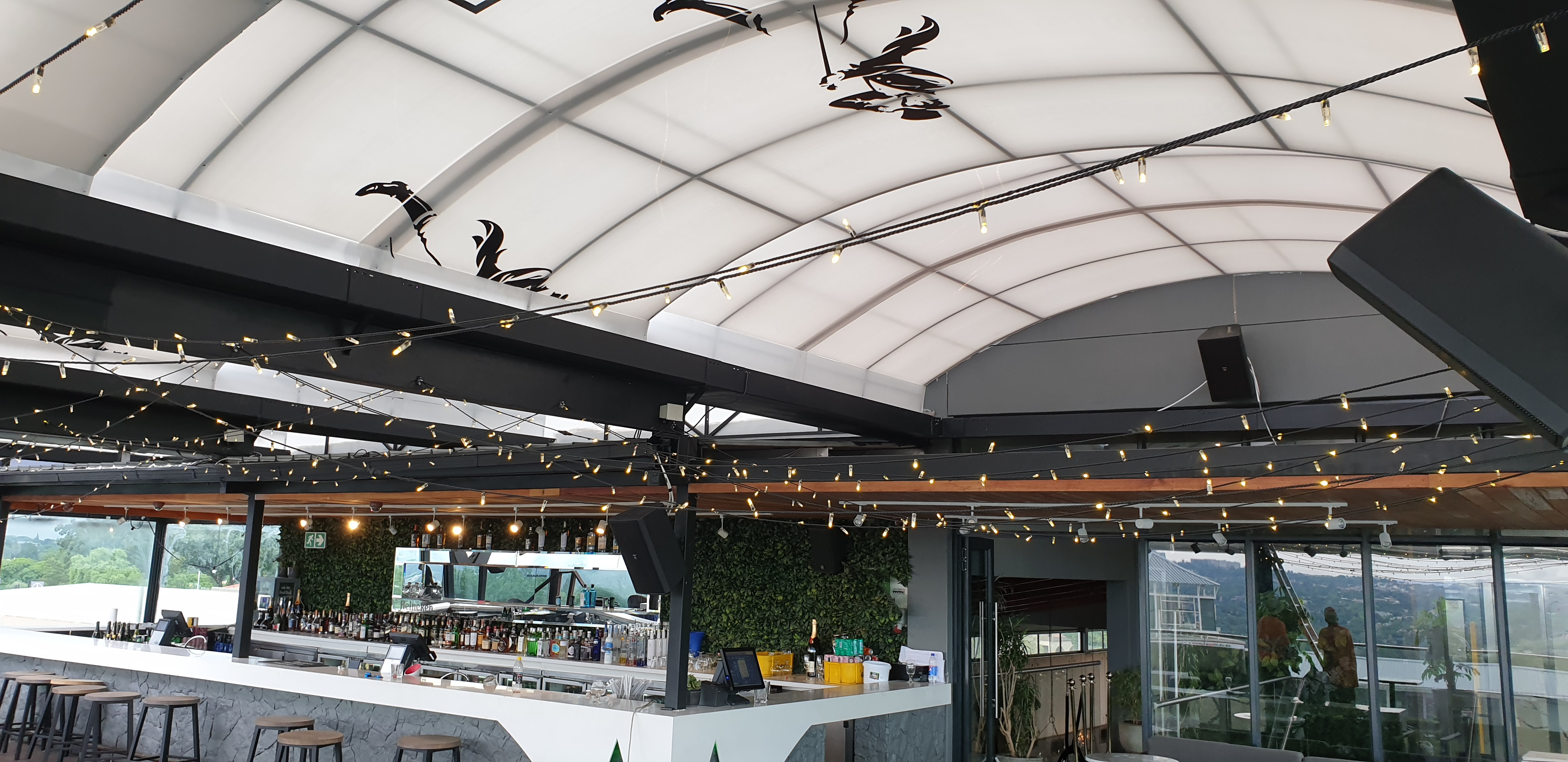Retractable Motorised Tensile Roof