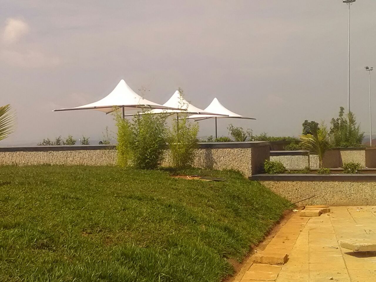 4x4 Fixed Frame Tensile Umbrella