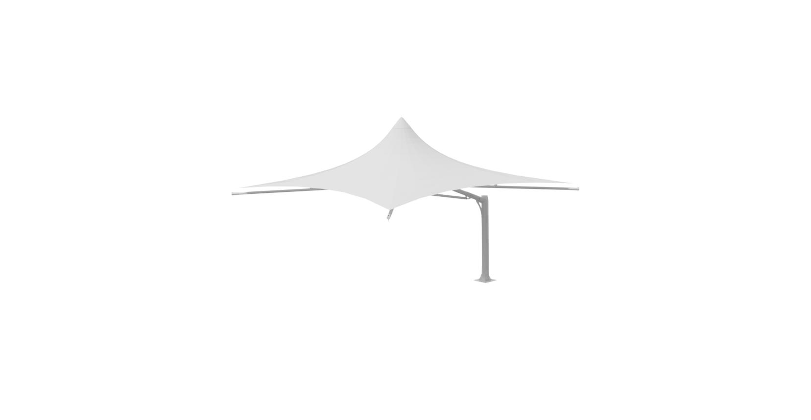 5x5 Mono Cantilever Umbrella ISO