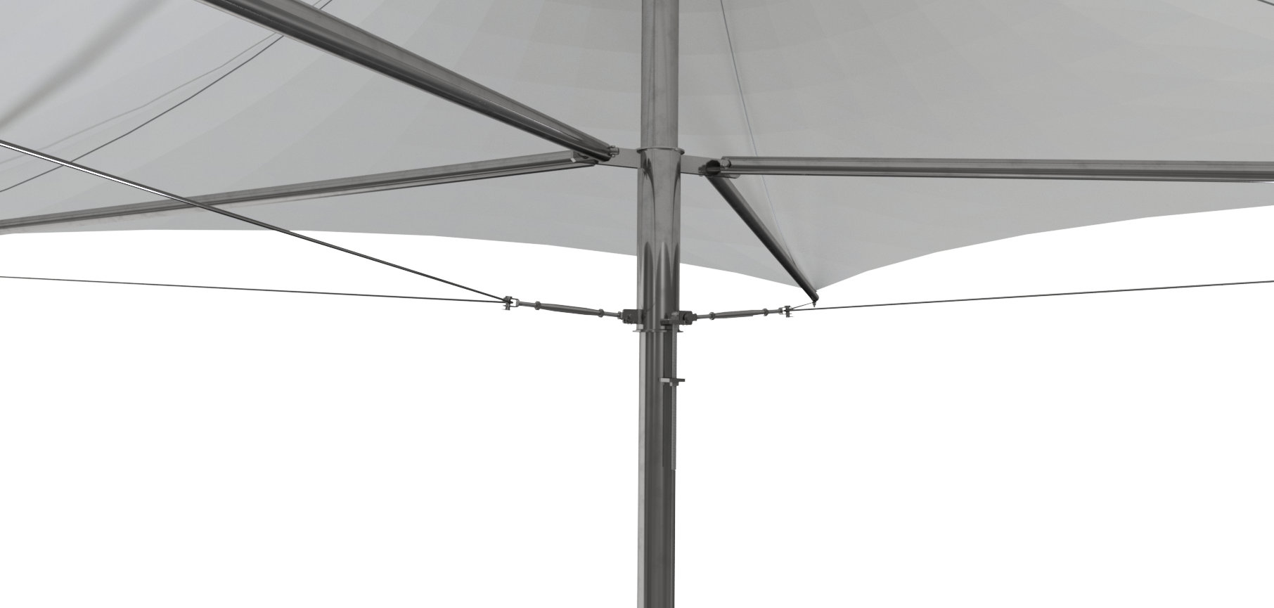 3x3 Stainless Steel Retractable Umbrella