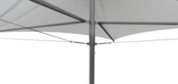 3x3 Stainless Steel Retractable Umbrella