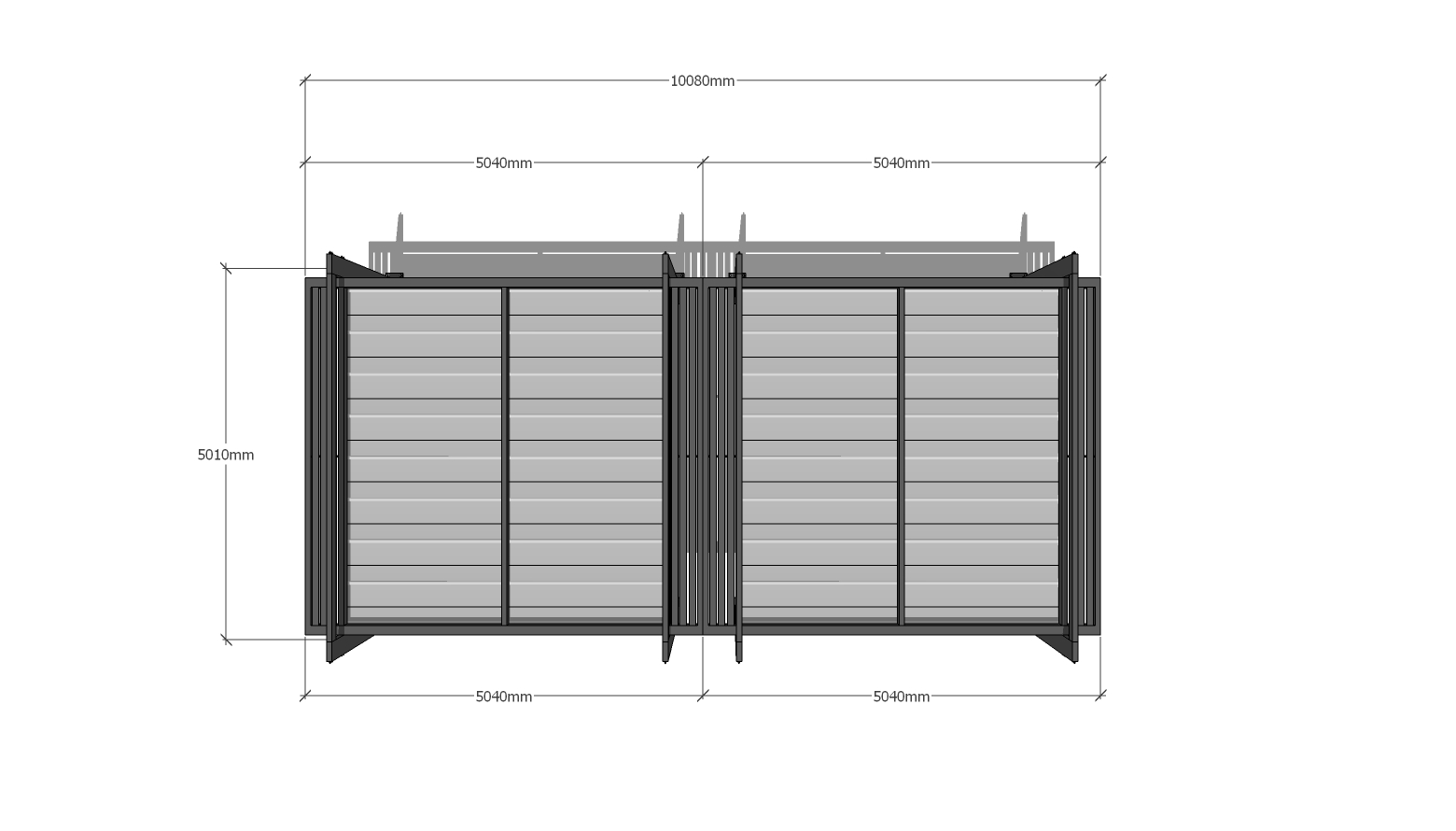 Retractable Pergola 5x10m
