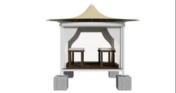 Massage Booth - Front Hemp