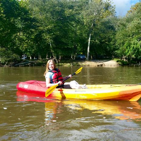 Kathryn Bruns CPA Kayaking