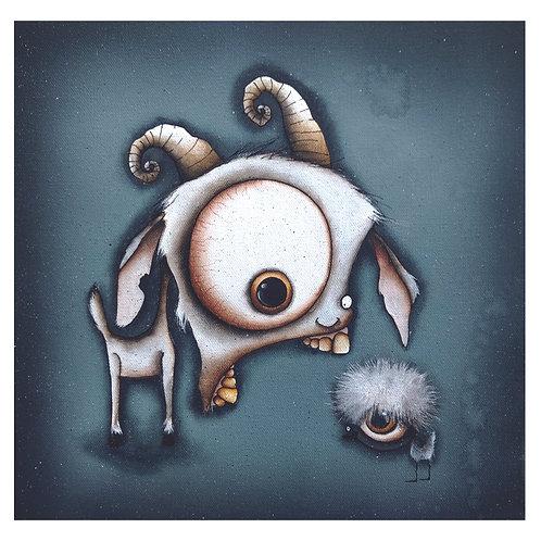 """12""""x12"""" Goat Original Painting"""