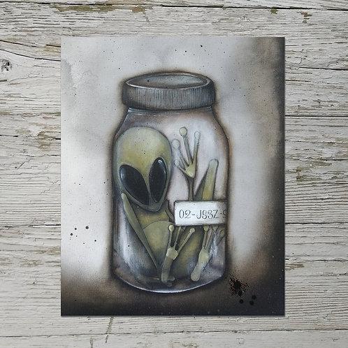 Alien in a Jar Print