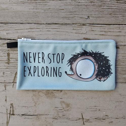 Never Stop Exploring Pencil Case