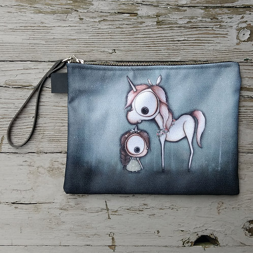 Unicorn Zippered Carry-all