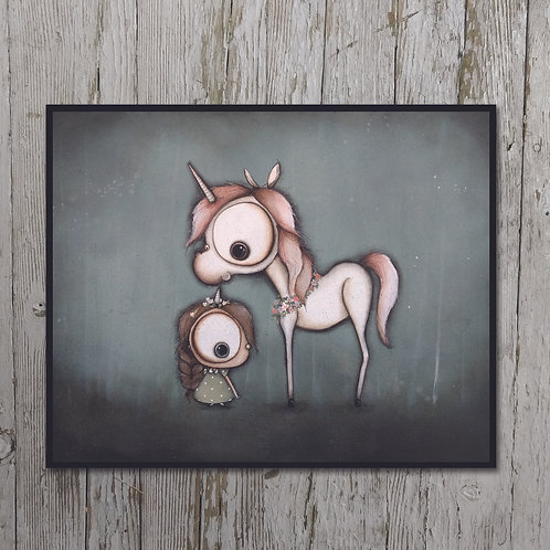 Unicorn Print Plaque