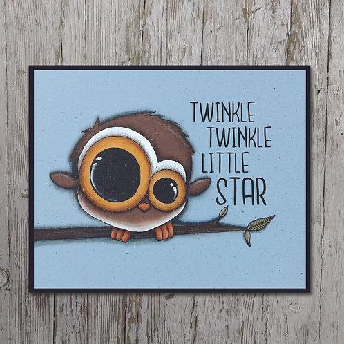 Owl Print Plaque